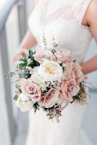 beautiful wedding bouquets pastel pink roses with white flowers mango studios