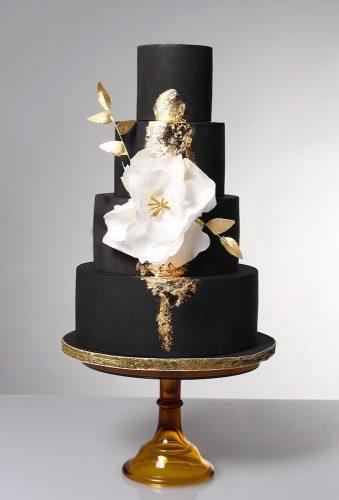 black and white wedding cakes black cake white flower sweetstufflife