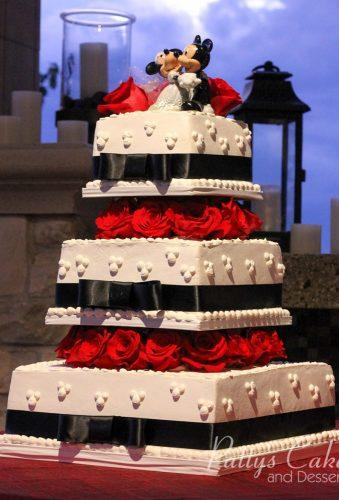 black and white wedding cakes cake mini and miki mouse pattys cakes