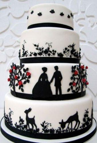 black and white wedding cakes cake with couple rosalindmillercakes