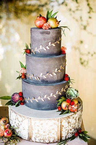 black and white wedding cakes cake with ftuits Betsi Ewing Studio