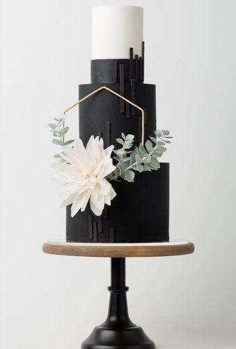 black and white wedding cakes elegant cake bog flower heytherecupcake