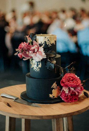black and white wedding cakes rustic cake with gold andrewhardy