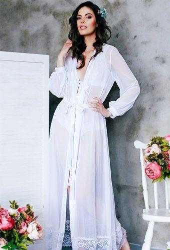bridal robes long white robe lingerie.macherie