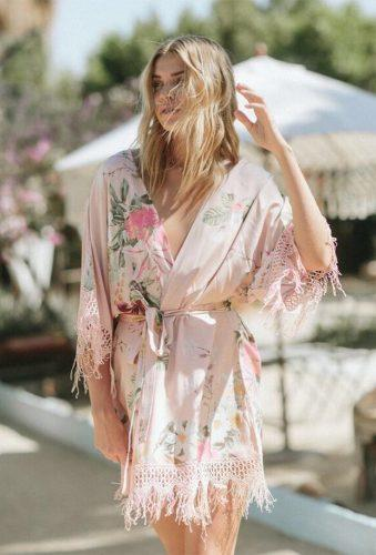 bridal robes pink flower robe plumprettysugar