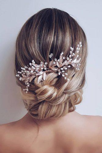 bridesmaid updos curly ombre low bun with crystals pin hairbyhannahtaylor