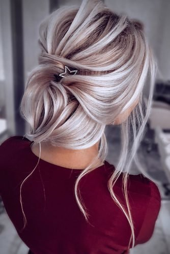 bridesmaid updos low elegant updo with loose curls nikihair.ru