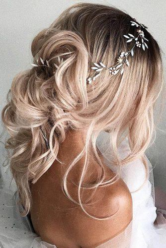 bridesmaid updos messy with loose curls ulyana aster via instagram
