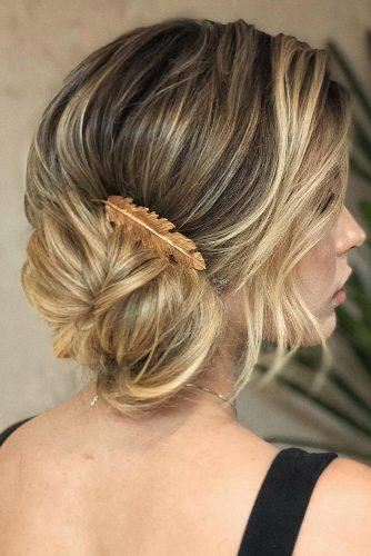 bridesmaid updos textured side bun ojoaquim via instagram