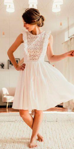 casual wedding dresses knee length lace sleeveless modern camillerecolin