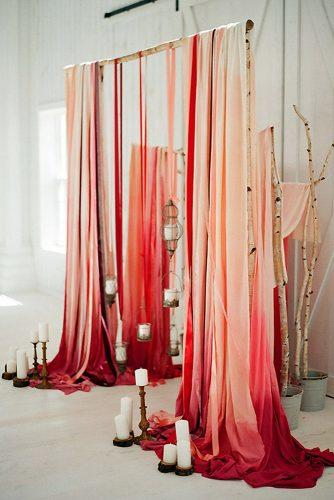 cheap wedding decorations ombre cloth and candles decorate wood arch clayton austin