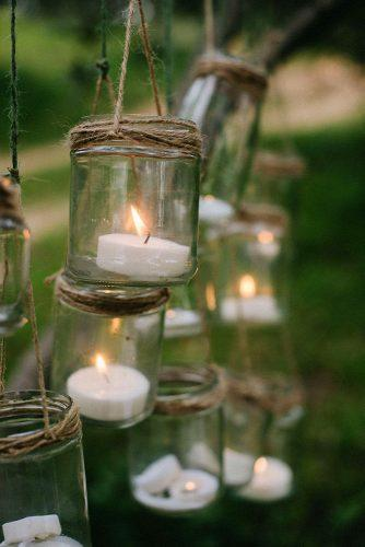 cheap wedding decorations suspended candles in glass jars pedro bellido