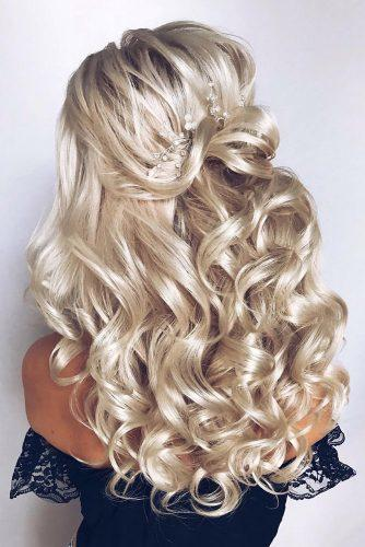 curly wedding hairstyles blonde eleganthalf up half down hair_vera