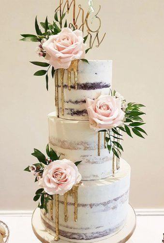 drip wedding cakes cake with pink rose bohemian bakehouse
