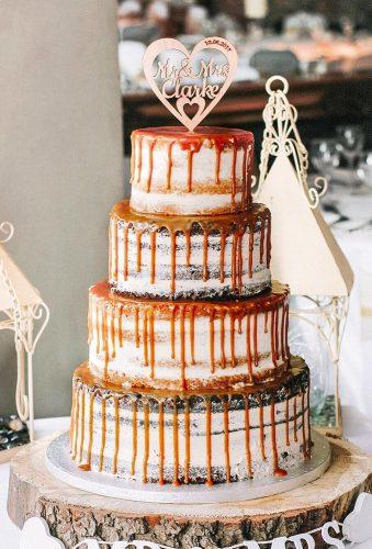 drip wedding cakes drip caramel on cake baked blessings