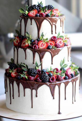 drip wedding cakes drip chocolate and fruits nyuta zelenskaja