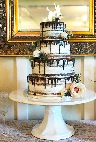 drip wedding cakes naked cake drip chocolate acunascustomcakes