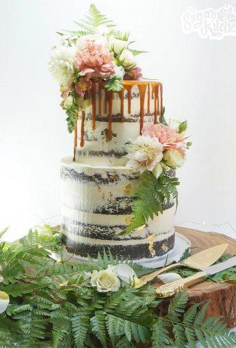 drip wedding cakes naked drip cake thesugarkitchen