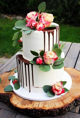 drip wedding cakes rustic drip cake with chocolate sanelas tortenwelt