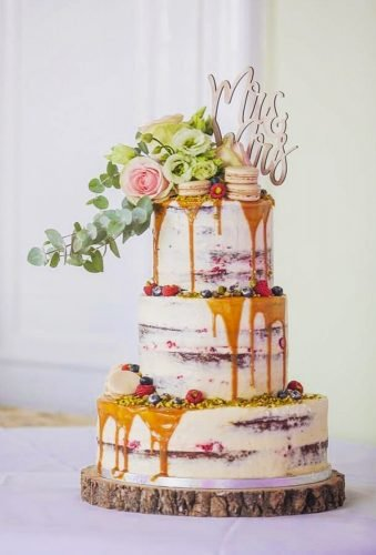 drip wedding cakes rustic naked0cake emmastokesweddingphotography