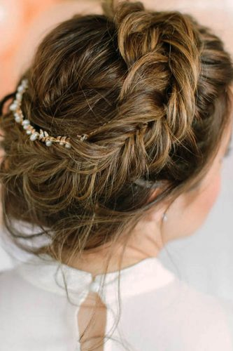 fall wedding hairstyles braided crown hairandmakeupbysteph
