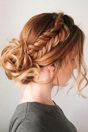 fall wedding hairstyles braided updo with bun gingersnaphairstyles