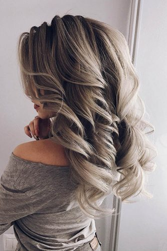 fall wedding hairstyles bright grey curls my wedmakeup