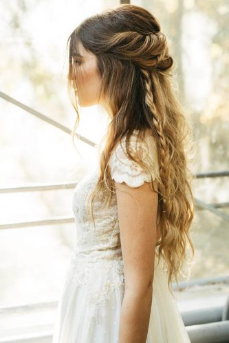 fall wedding hairstyles half up half down anahhair