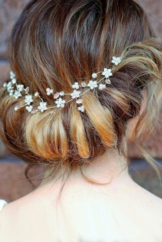 fall wedding hairstyles updo with headpiece belles and brides