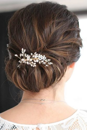 fall wedding hairstyles updo with headpiece dark hair belles and brides