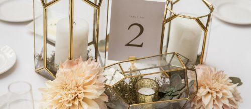 gold wedding decorations featured