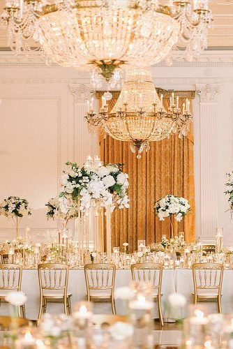 gold wedding decorations gold wedding reception