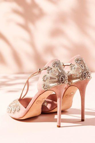 gorgeous bridal shoes awesome pink strappy high heels emmy london official