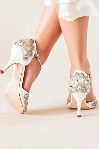 gorgeous bridal shoes low heel embroidered emmy london official