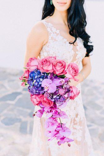 gorgeous summer wedding bouquets cascade summer bouquet Elias Kordelakos