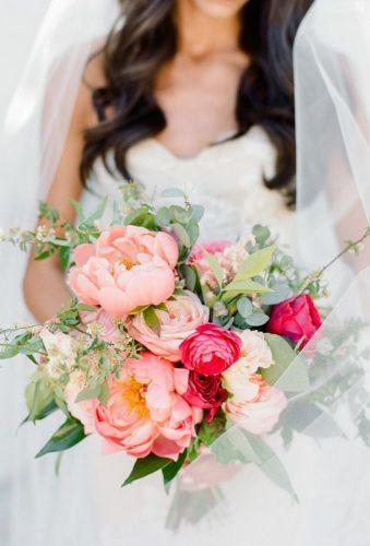 gorgeous summer wedding bouquets peach summer bouquet Rebecca Yale Photography