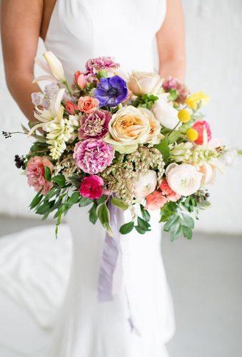 gorgeous summer wedding bouquets tender color bouquet theperfectpalette