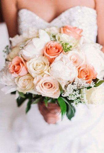 gorgeous summer wedding bouquets yender peach bouquet michaleensinbloom