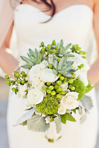 green wedding florals whitw bouquet elliesandersonoutlet