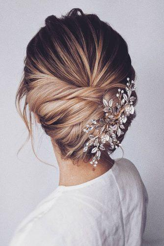 hair accessories inspiration elegant low updo with silver hairpin bridal_hairstylist
