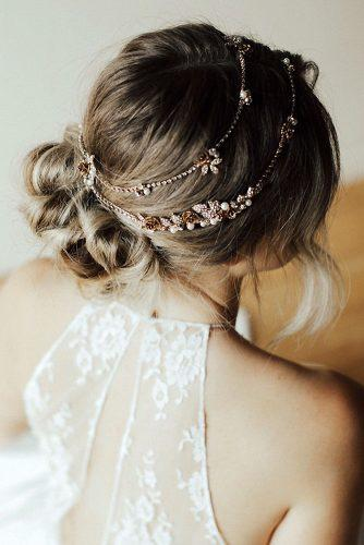 hair accessories inspiration messy bun decorated with elegant headband untamed petals via instagram