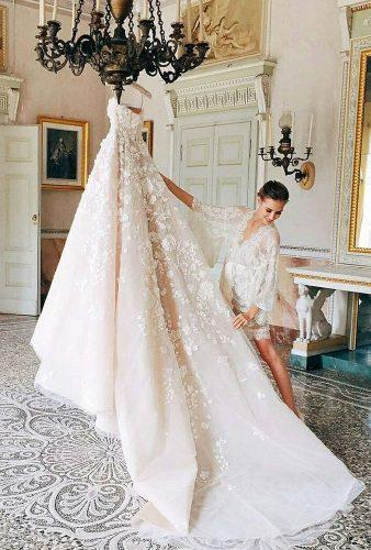 hanging wedding dress bride with dress eliesaabworld