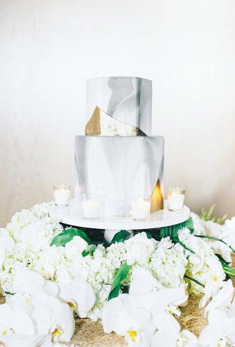 marble wedding cakes cake with white flower breathejphotography