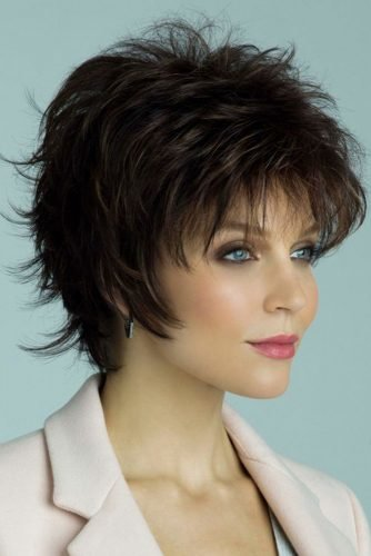 mother of the bride hairstyles Pixie cut short dark hair voguewigsofficial