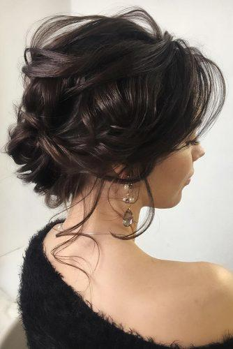 mother of the bride hairstyles curly updo on dark medium hair lenabogucharskaya