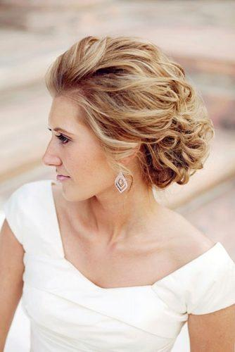 mother of the bride hairstyles elegant curly updo for short hair motif photography