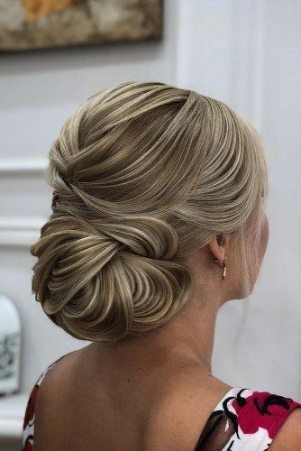 mother of the bride hairstyles elegant textured updo zuhra_sullieva