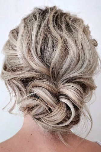 mother of the bride hairstyles on curly blonde hair low bun sarahwhair