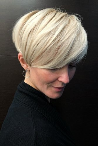 mother of the bride hairstyles short haircut with simple smooth bangs wuzzupkarry