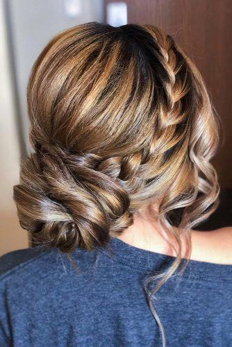 mother of the bride hairstyles volume low bun with side braid samirasjewelry